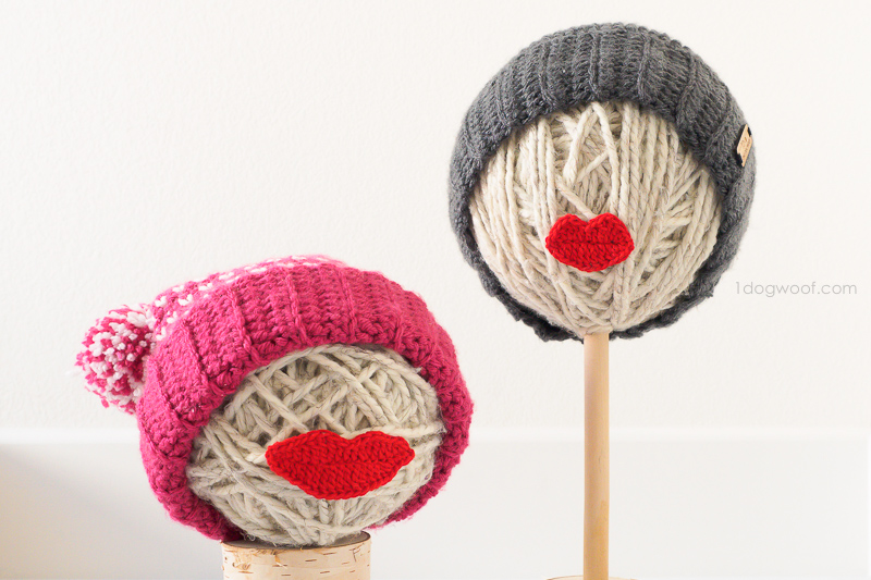 yarn ball hat displays