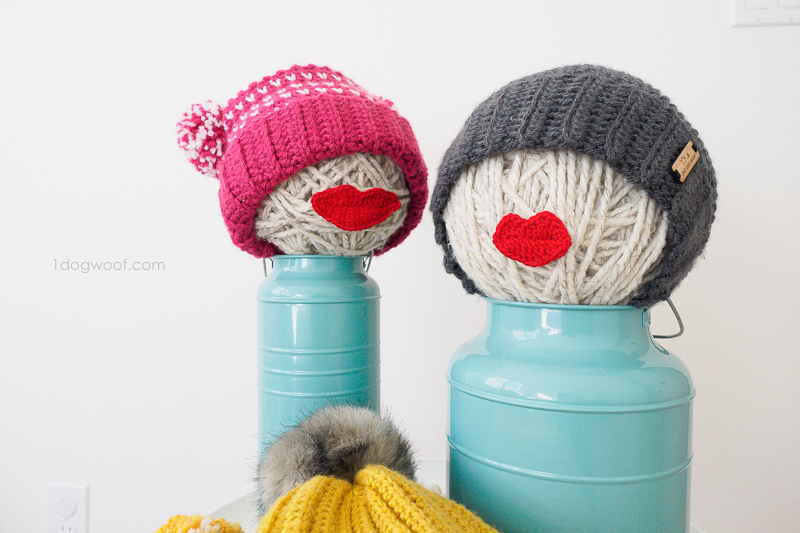 yarn ball displays for handmade hats