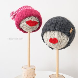 DIY yarn ball hat displays for craft shows
