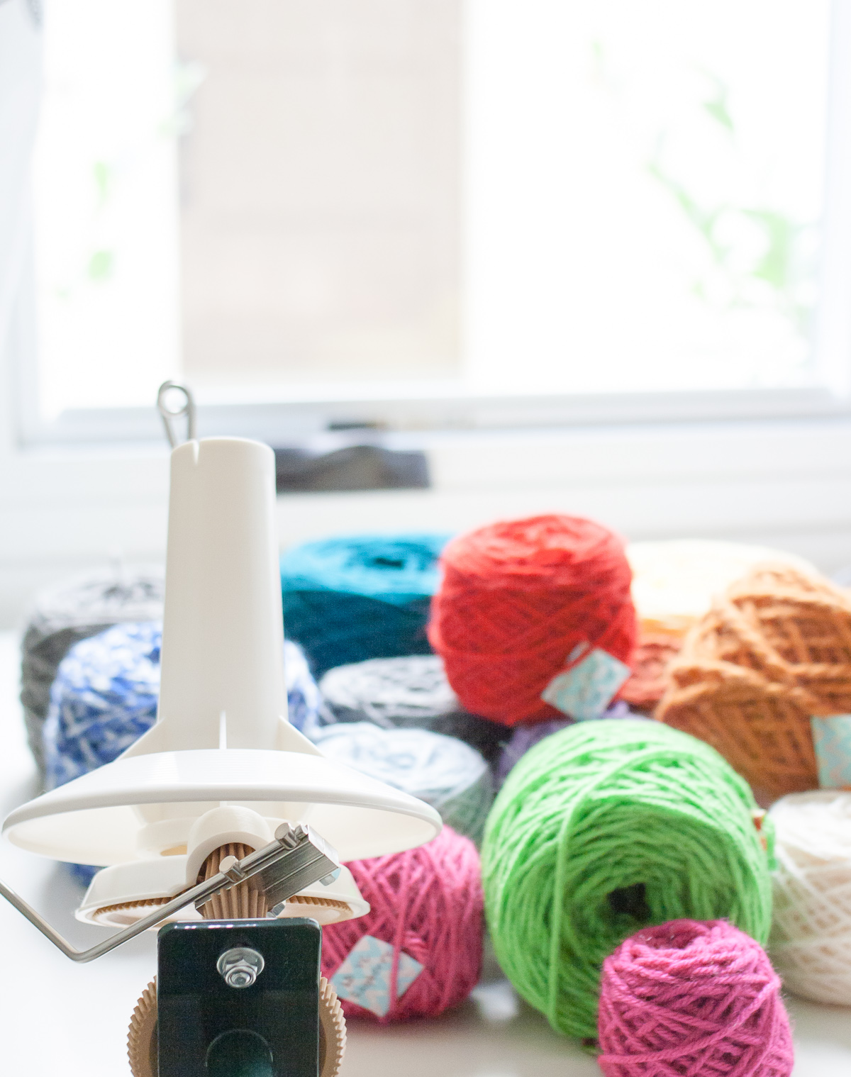 yarn winder gift idea for crocheters and knitters
