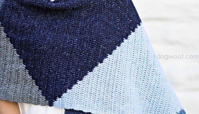 The Tangram Wrap: a Modern Crochet Scarf Wrap