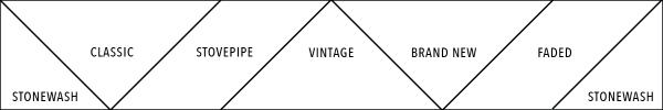 Tangram wrap, color chart