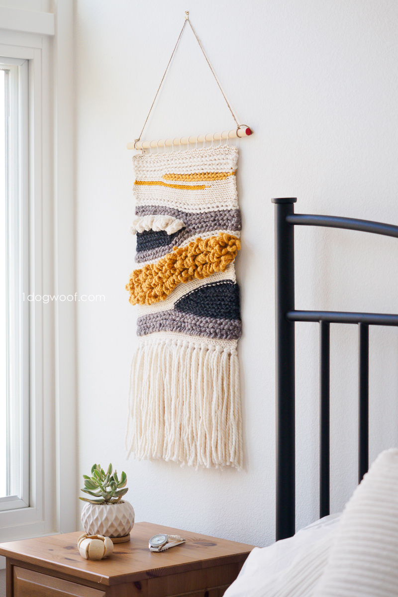 How to Make Your Own Woven Crochet Wall Hanging
