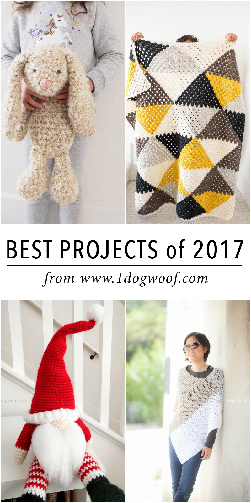Favorite crochet and knit projects of 2017 from www.1dogwoof.com