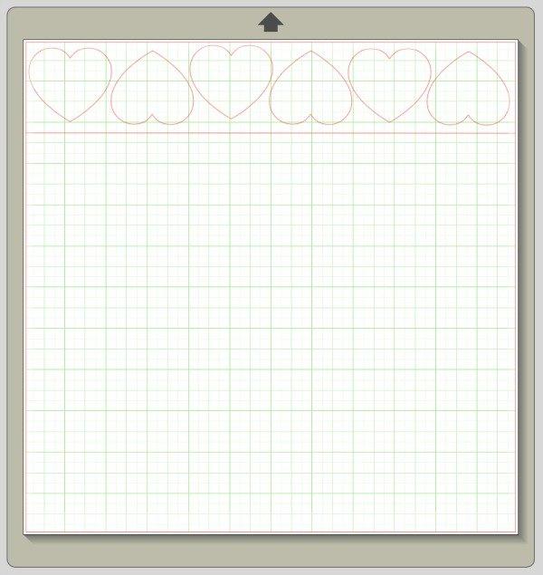 chocolate hearts cut file template