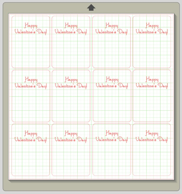 simple valentine card template