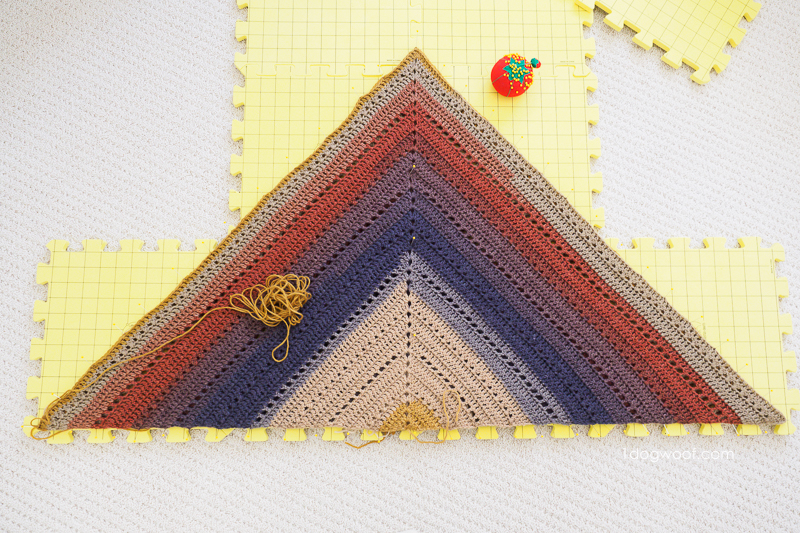 Blocking the triangle.