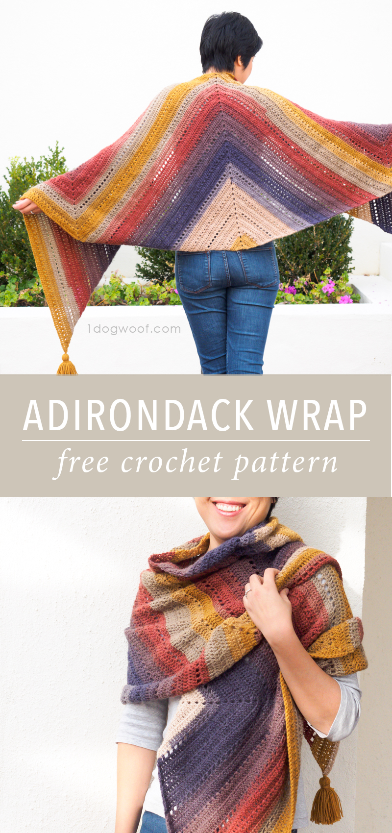 The Adirondack Wrap Crochet Pattern One Dog Woof
