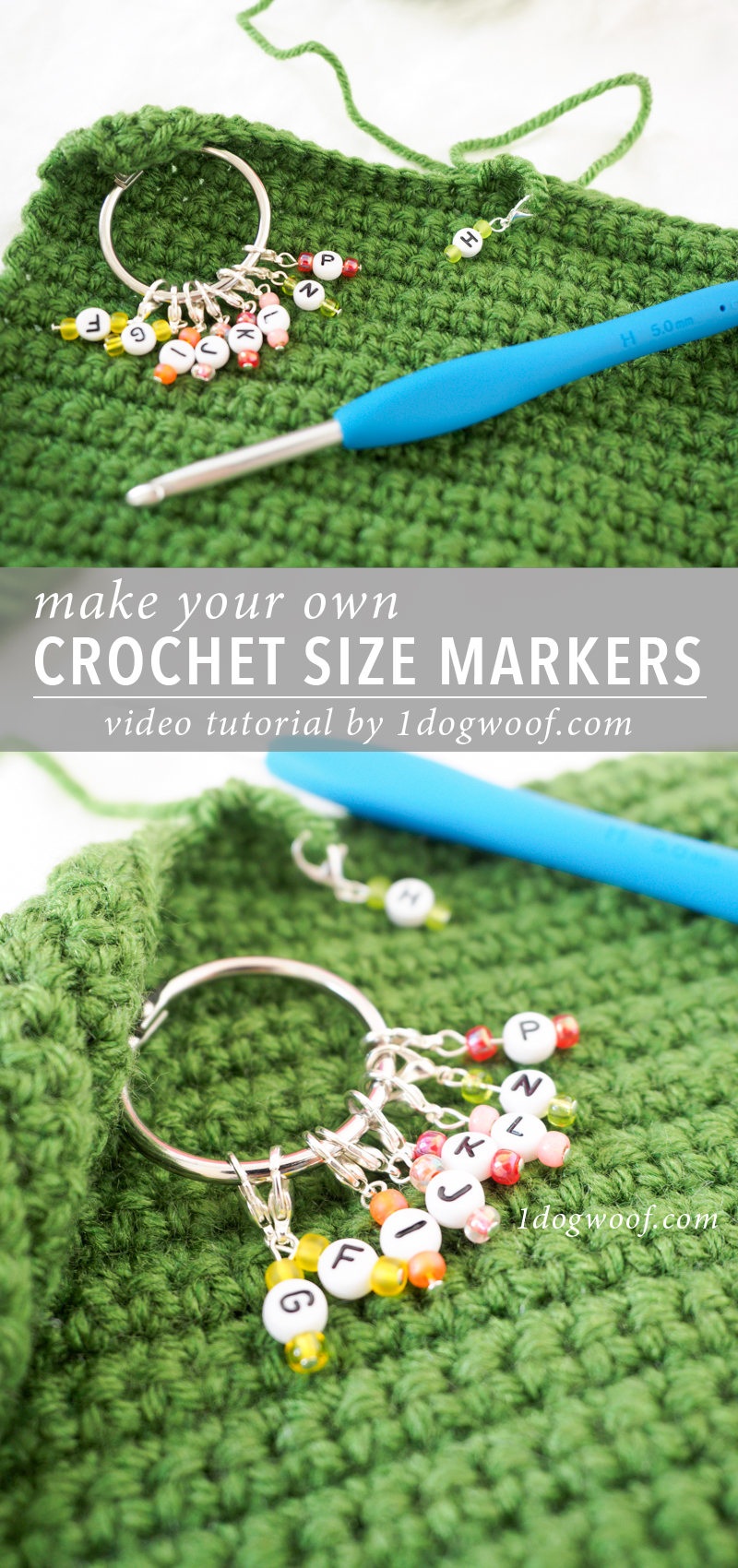 Make Your Own Crochet Size Markers pin image