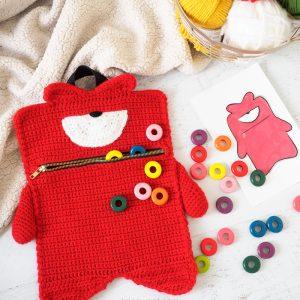 Kelvin Monster Zipper Pouch Crochet Pattern