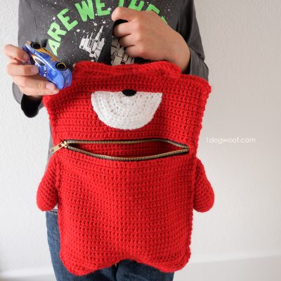 Kelvin Monster Zipper Pouch Crochet Pattern
