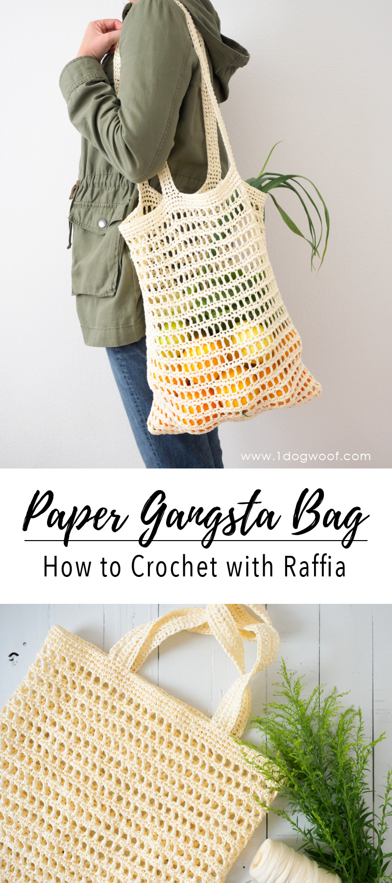 Paper Gansta Bag - How to Crochet with Raffia