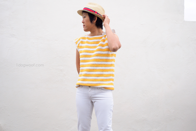 Monterey Bay striped top with fedora
