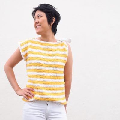 Monterey Bay Striped Top Crochet Pattern