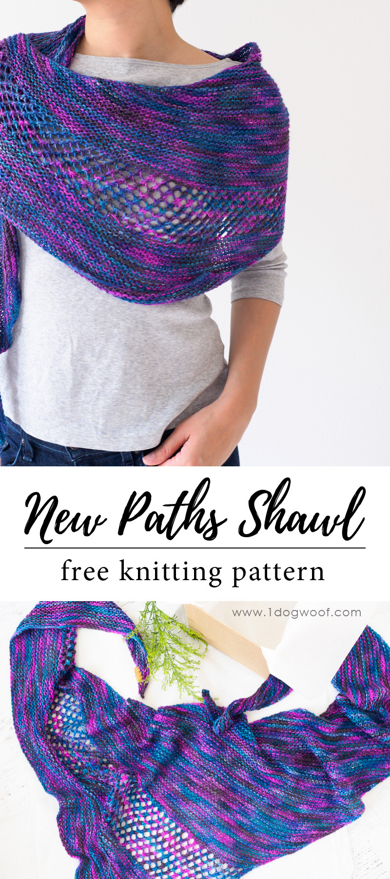 New Paths Shawl for pinning.