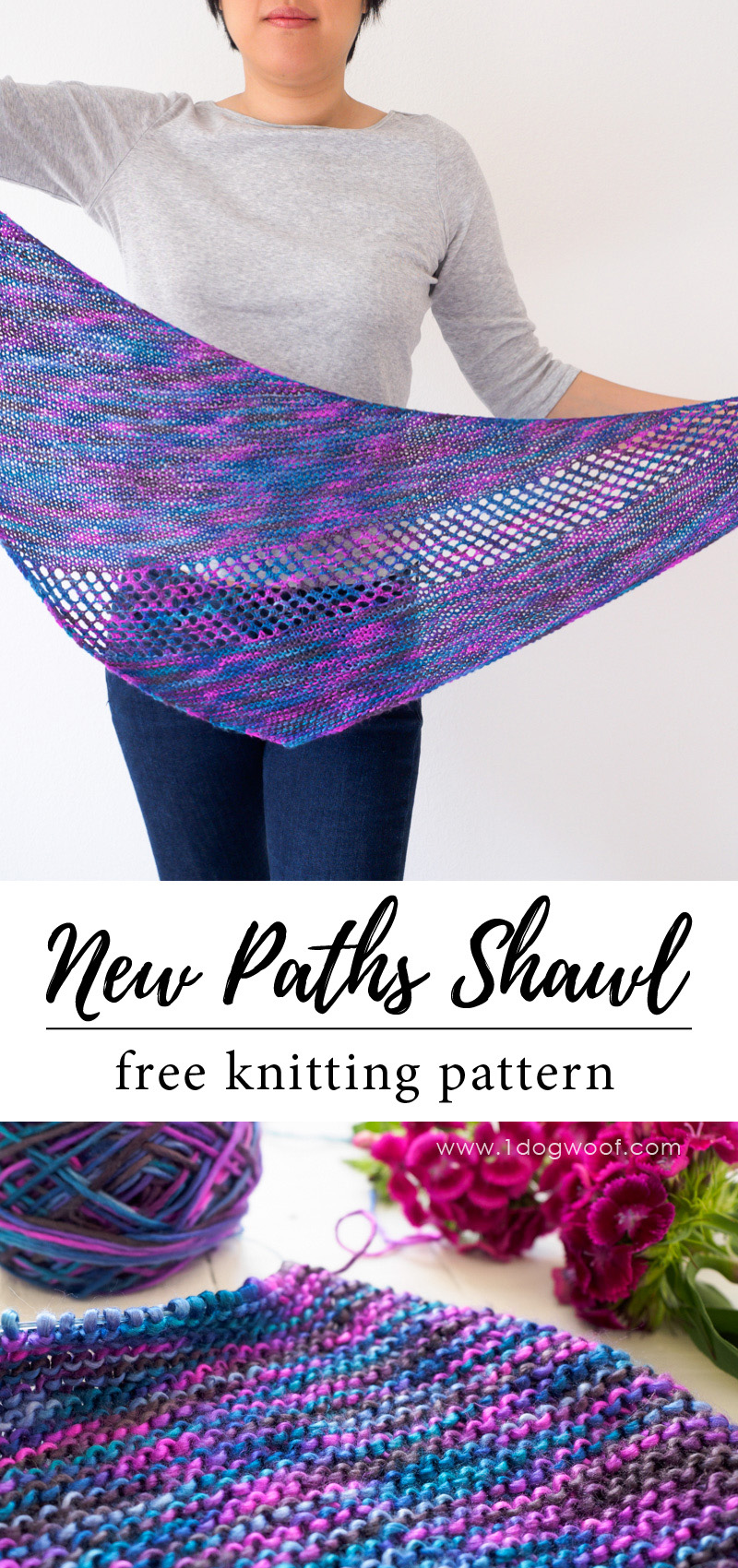 New Paths Shawl for pinning