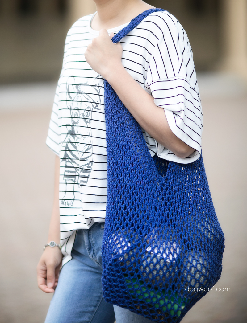 over the shoulder mesh bento bag