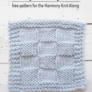 Parquet Square Knitting Pattern Harmony Blanket Knit-Along