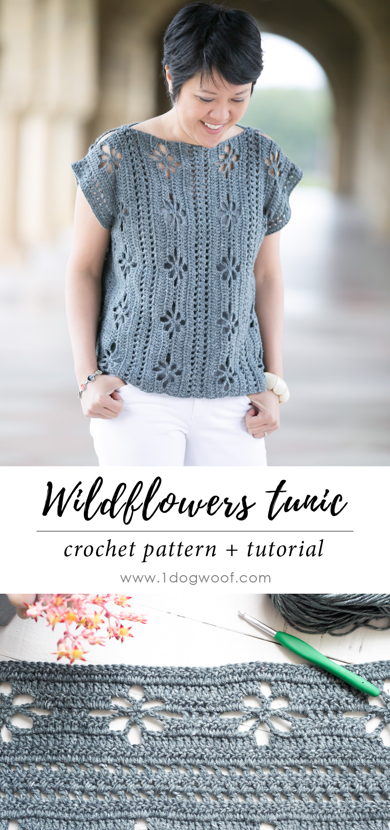 wildflowers tunic top + stitch detail pin image