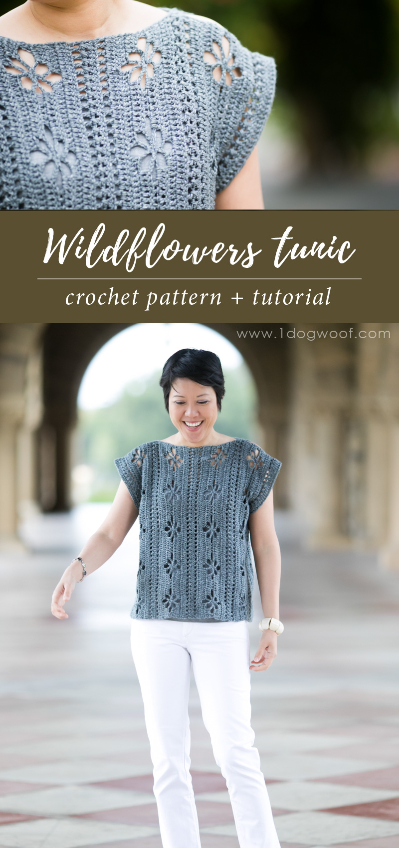 wildflowers tunic top pin image
