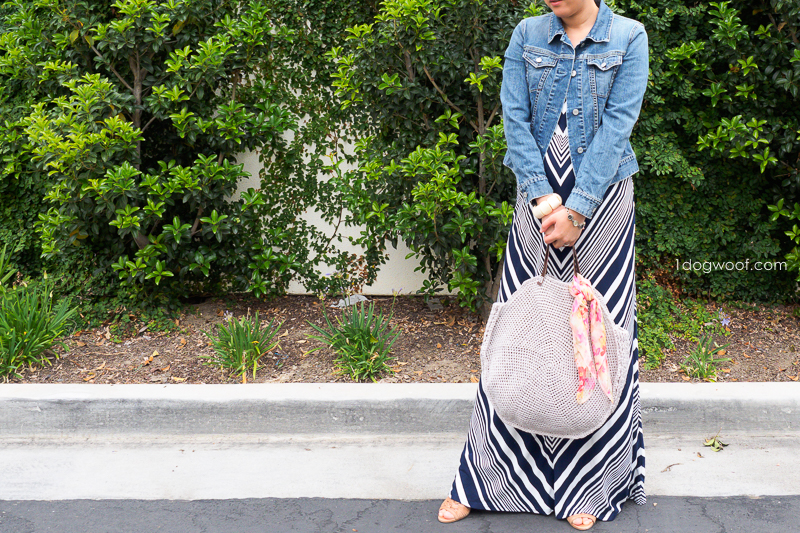 circle bag with dress outfit