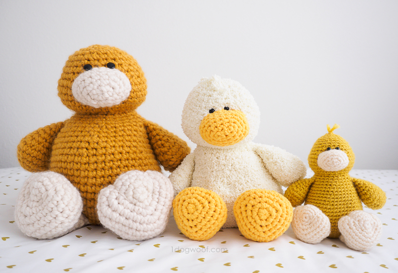 Stanley duck amigurumi, 3 ducks from 1 crochet pattern