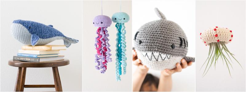 www.1dogwoof.com marine animal crochet patterns