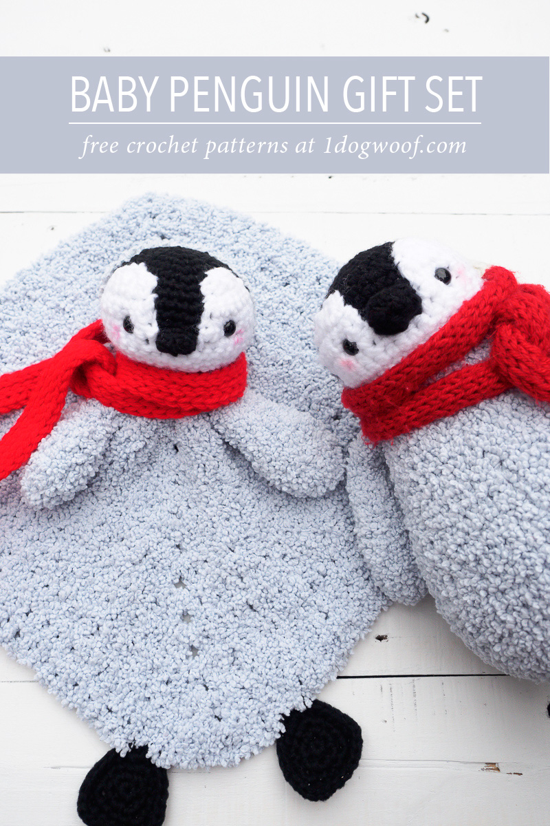 crochet baby penguin gift set