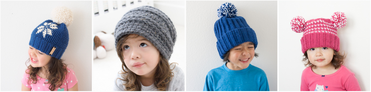 Free crochet hat patterns at 1dogwoof.com