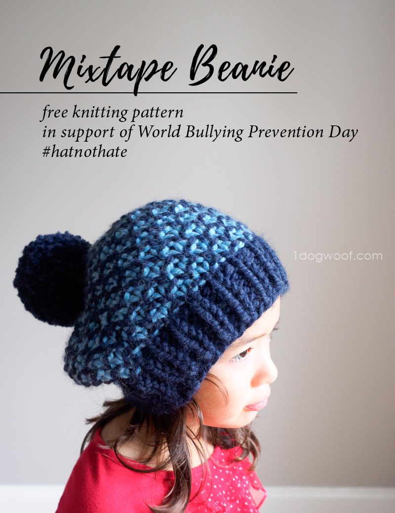 mixtape beanie knit hat for hatnothate campaign