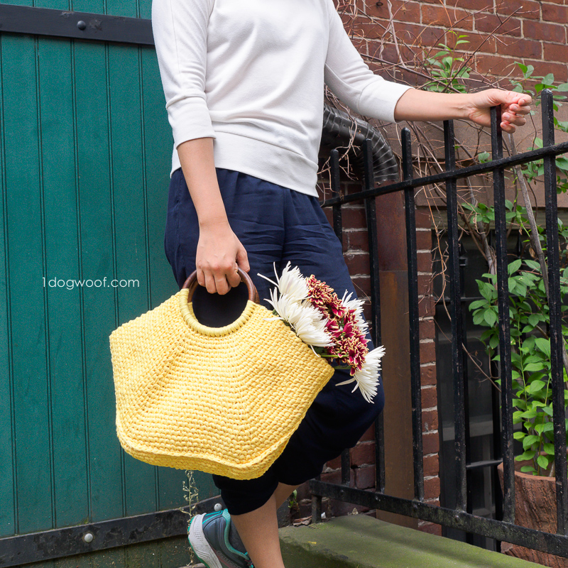 Hanging by a fence with riviera tote