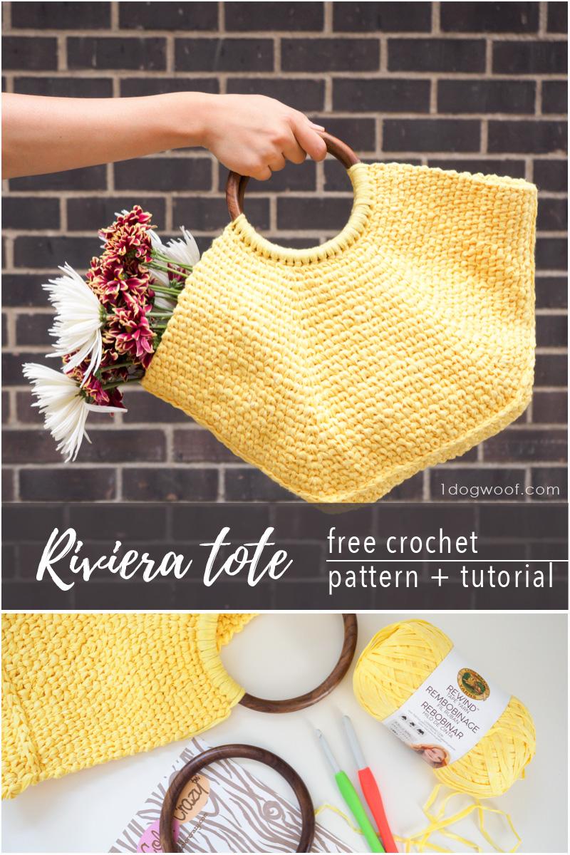 Riviera Tote with summer flowers
