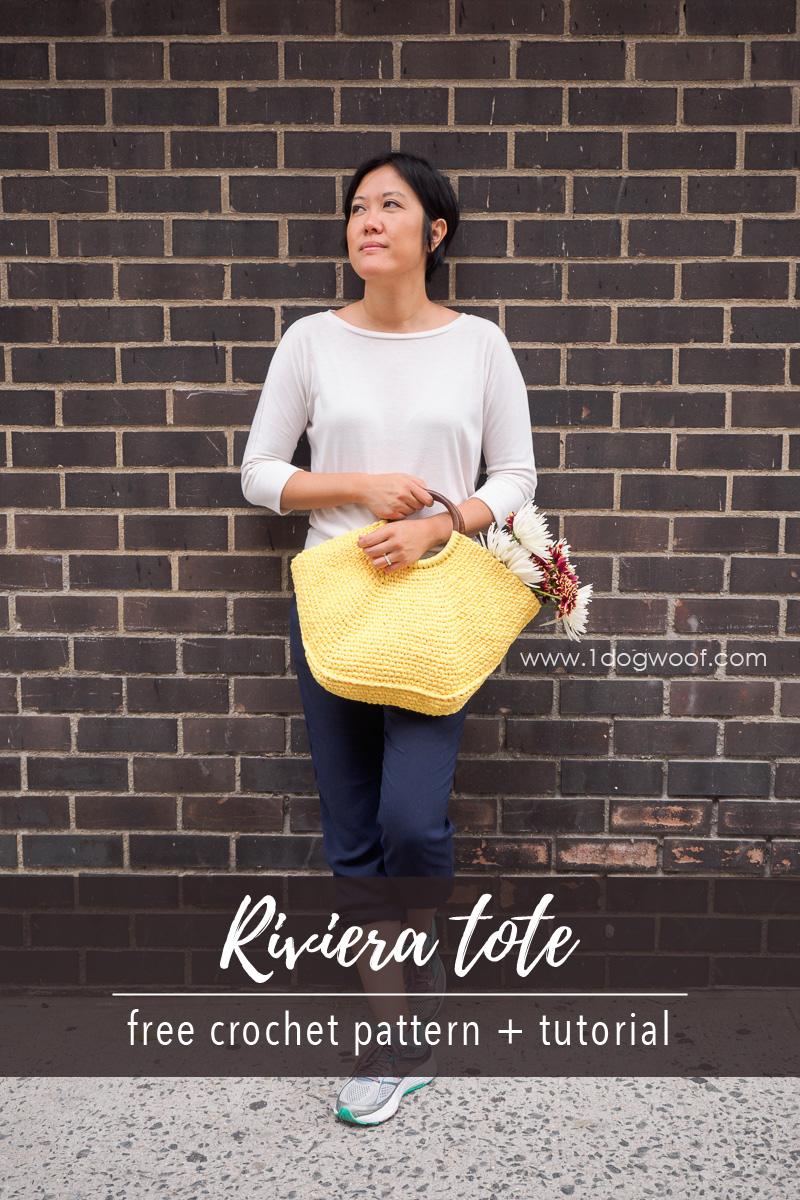 Riviera Tote crochet pattern pin image