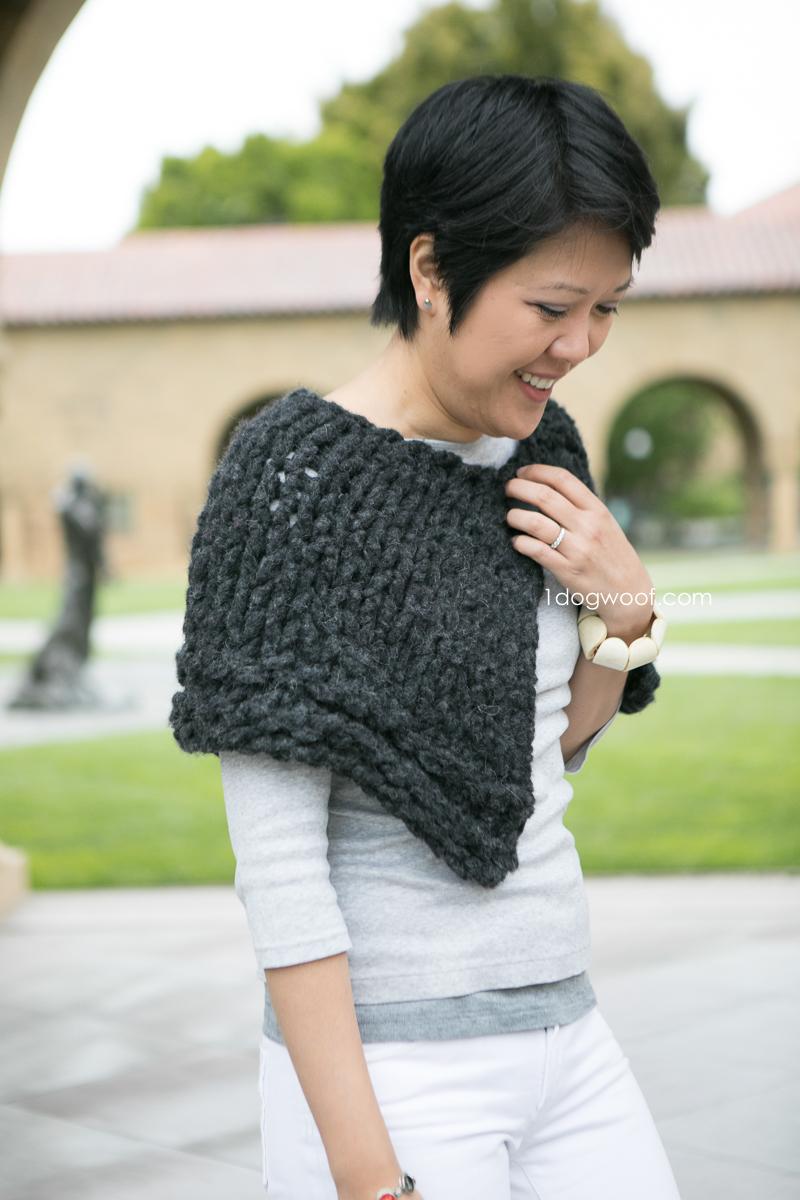 All Season Easy Knit Capelet