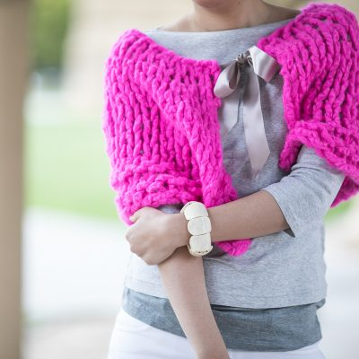 All Season Easy Knit Capelet