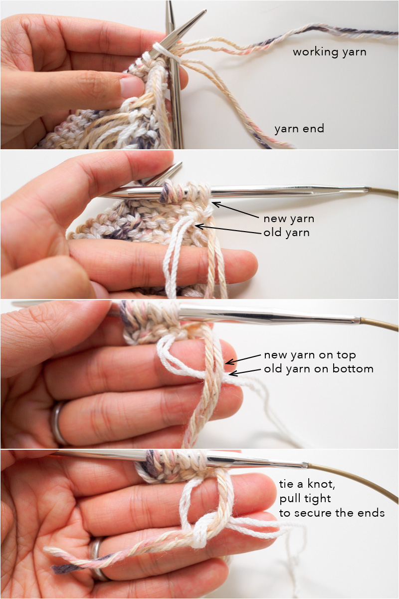 How to tie ends for fringe