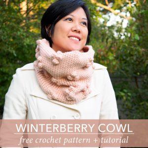 Winterberry Bobble Cowl Free Crochet Pattern