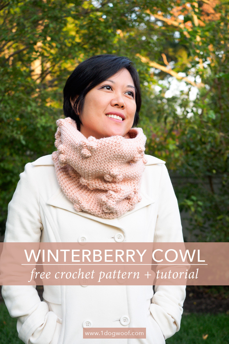 Winterberry Bobble Cowl Free Crochet Pattern