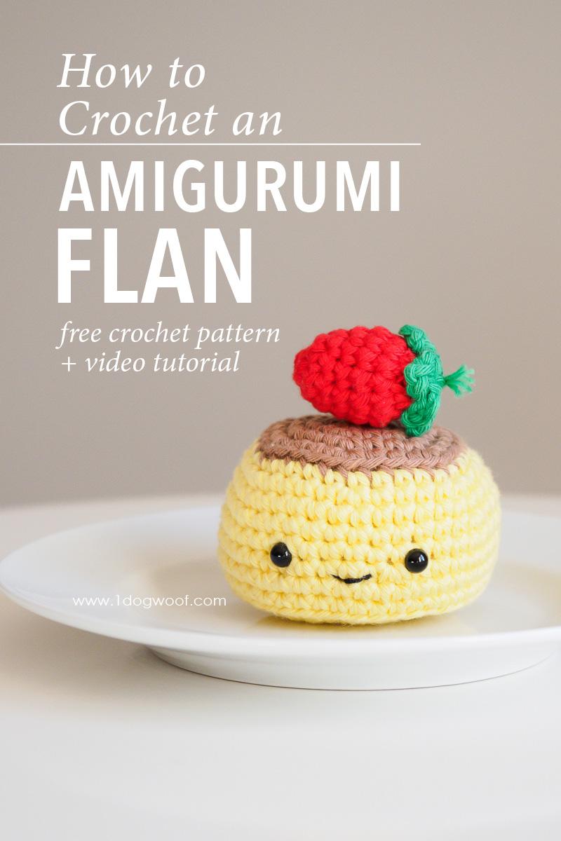 Crochet Flan Amigurumi