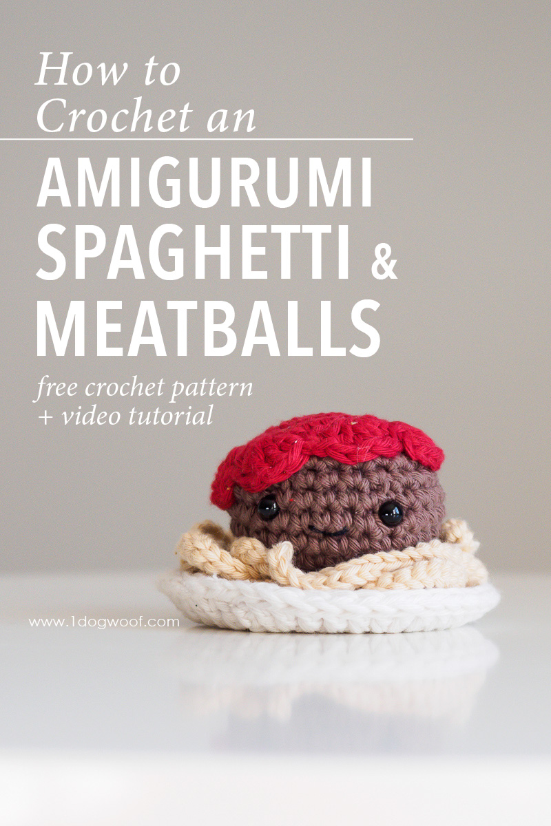 Amigurumi Spaghetti and Meatballs