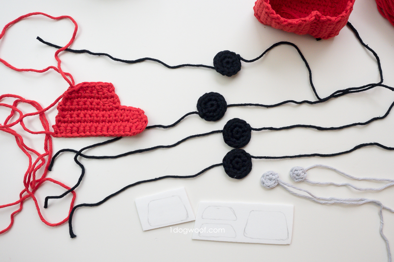 pieces for amigurumi car