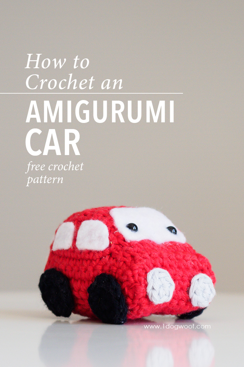 Amigurumi kawaii car stuffed toy