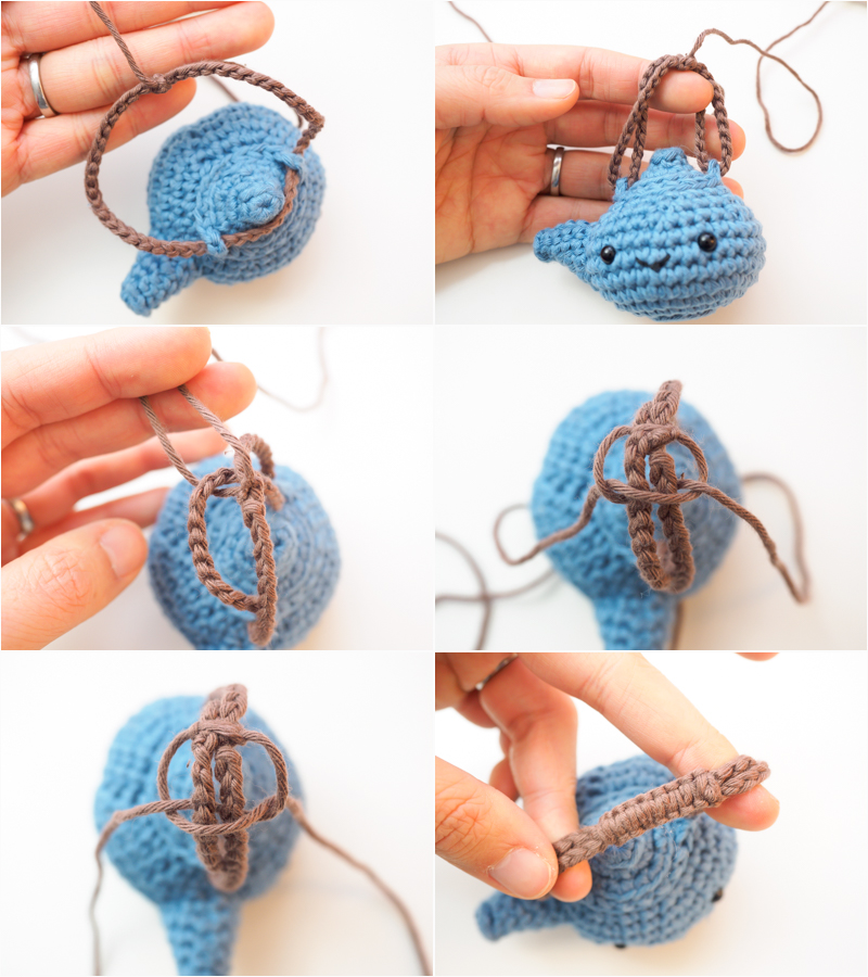 macrame handle for amigurumi teapot