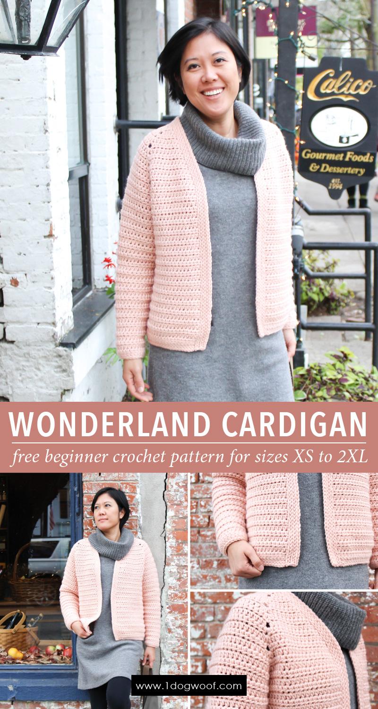 Wonderland Cardigan: a beginner raglan crochet cardigan