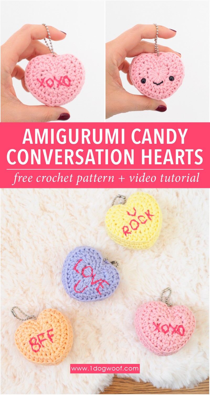 Amigurumi Candy Conversation Hearts