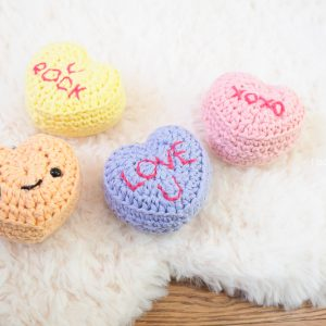 Candy conversation hearts keychains