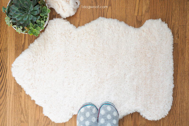 make your own faux fur sheepskin rug