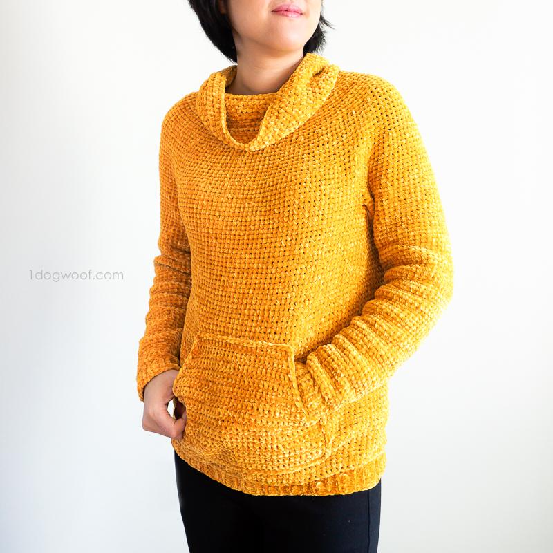 Mysa Velvet Sweatshirt Sweater crochet pattern