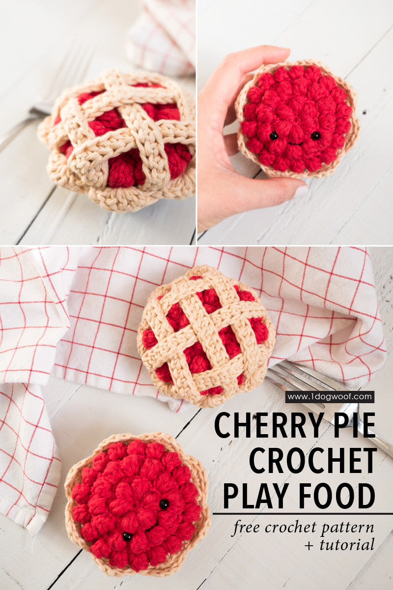 cherry pie crochet play food