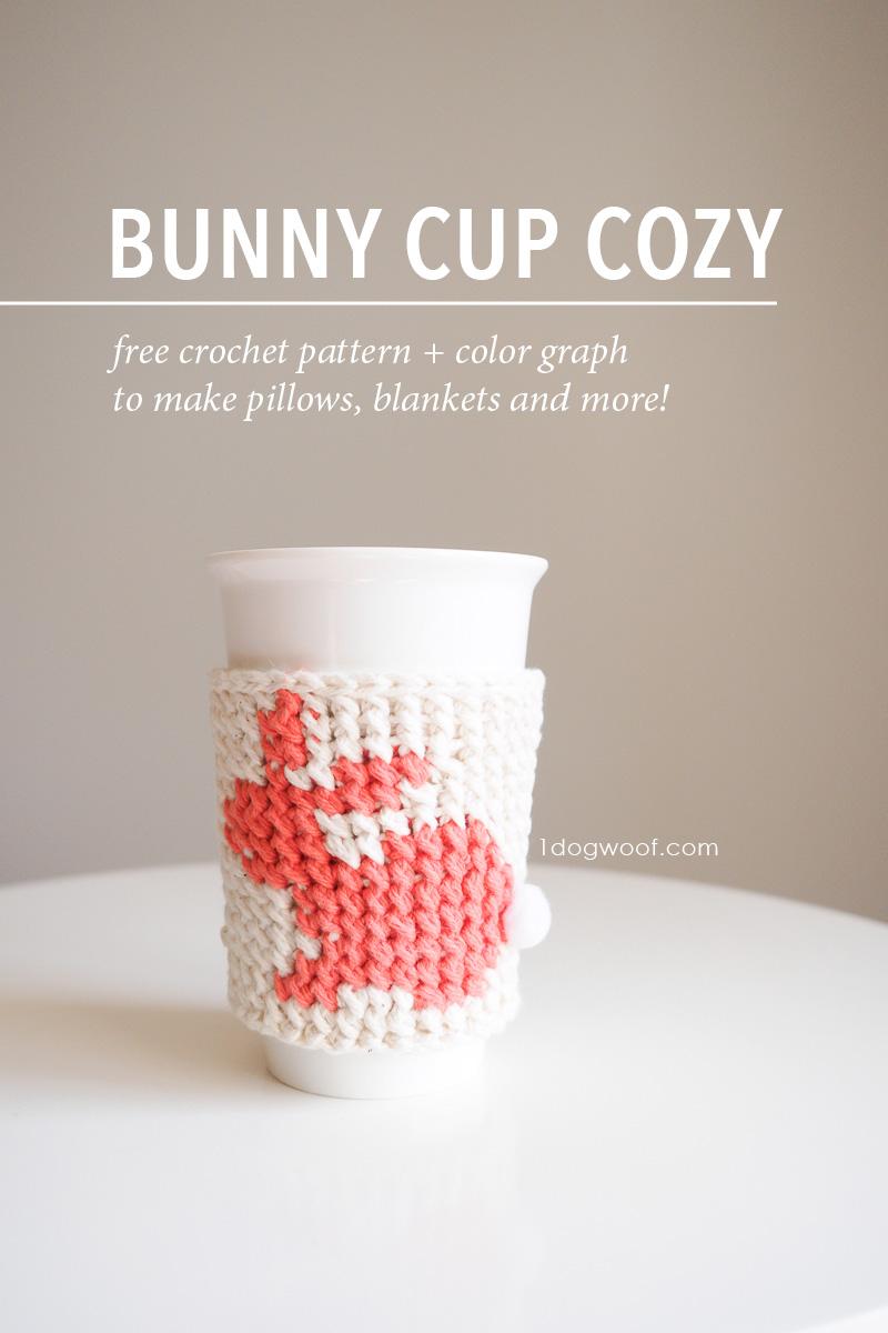 bunny cup cozy pin image